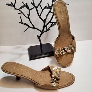 UNISA  Kitten Heel Sandals/Slides